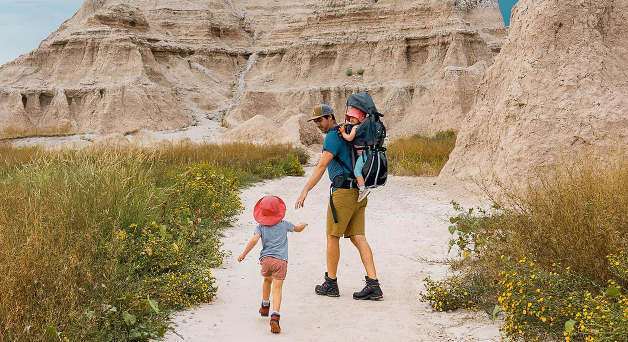 Family Hiking In Badlands National Park