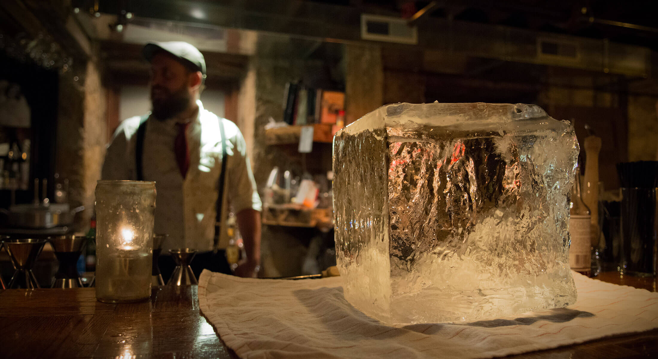 Block Of Ice At Blind Lion Speakeasy