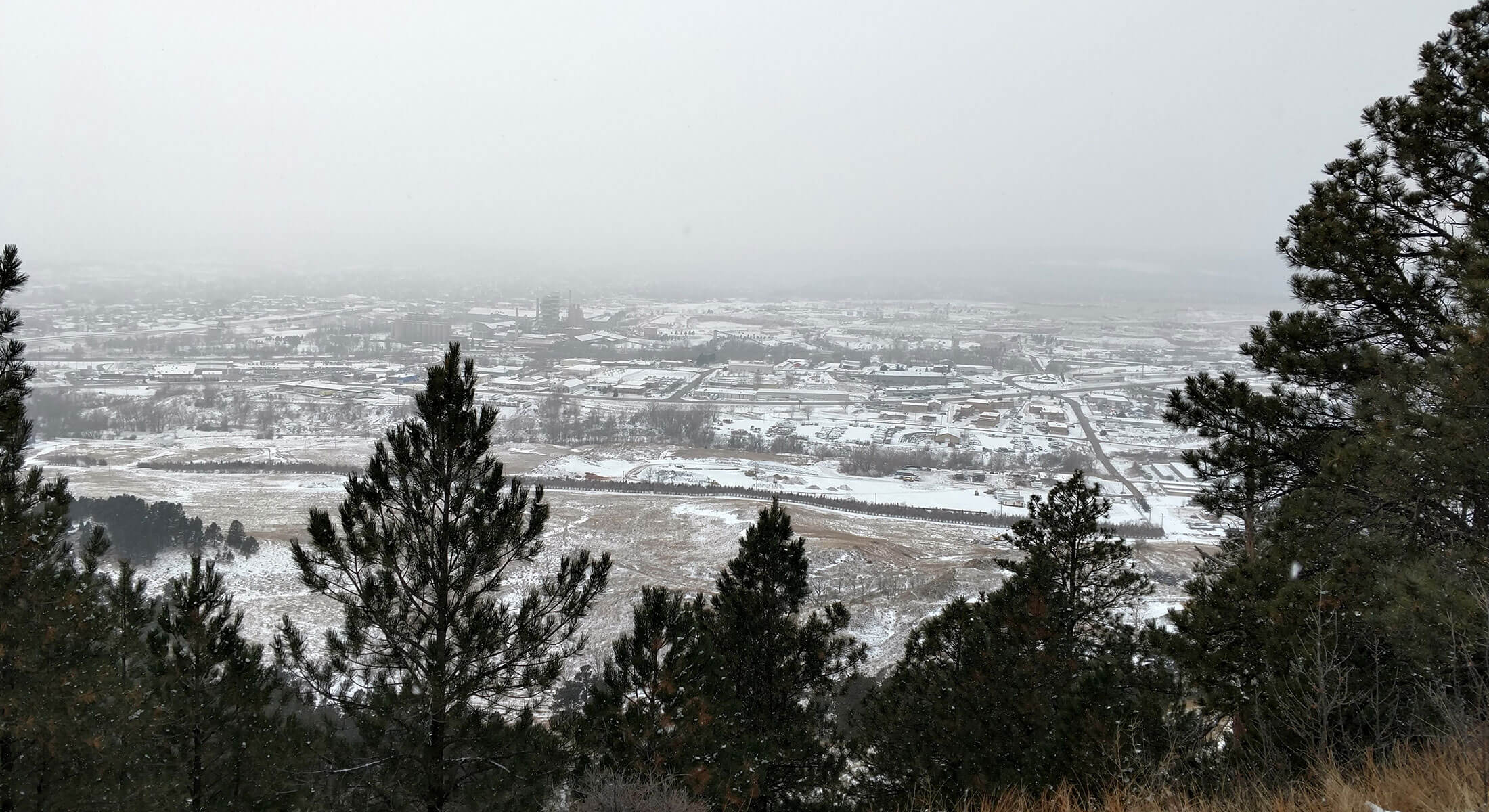 Snowy Views From M Hill in Rapid City