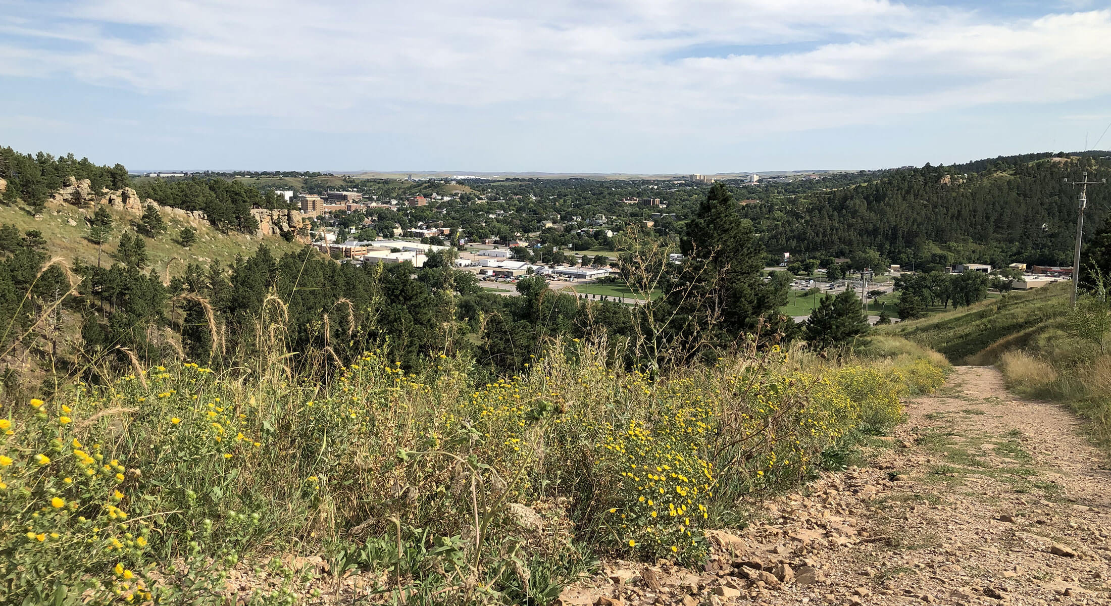 View from M Hill Hike in Rapid City