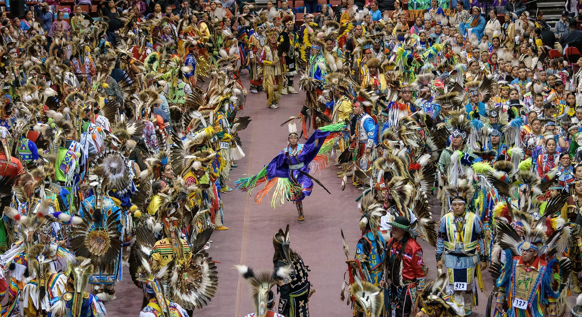 Dancers performing at the Black Hills Powwow in Rapid City