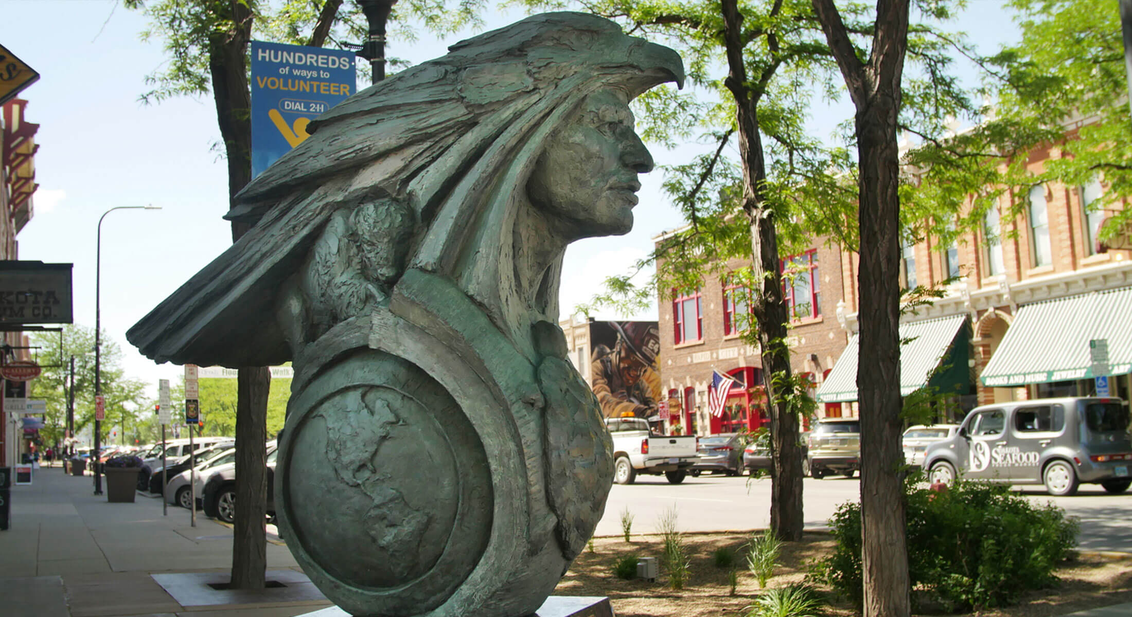 Native American Sculpture in Downtown Rapid City
