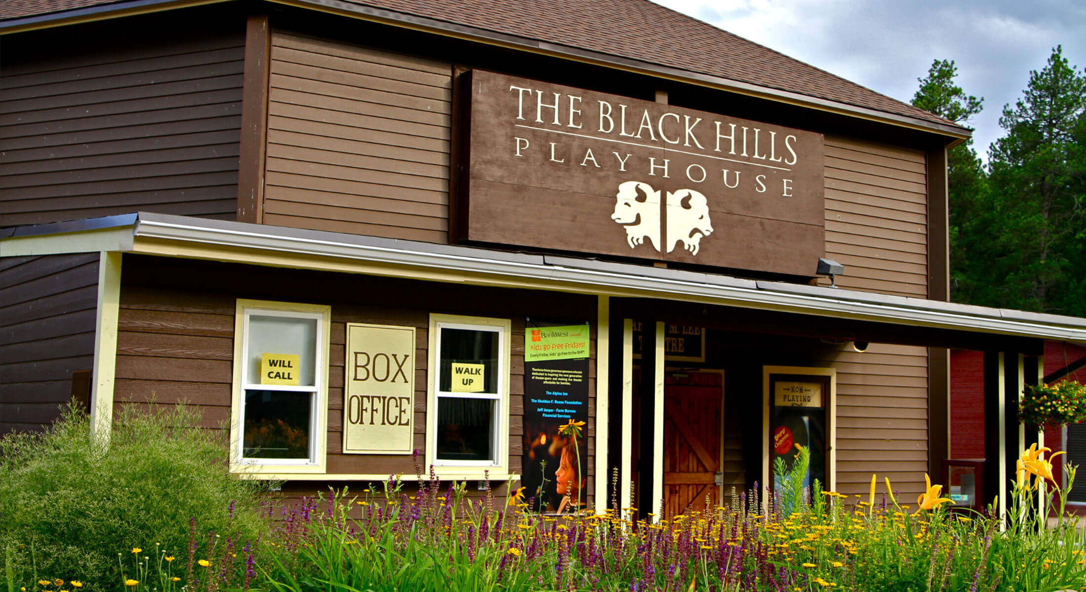 Exterior of the Black Hills Playhouse in Custer State Park