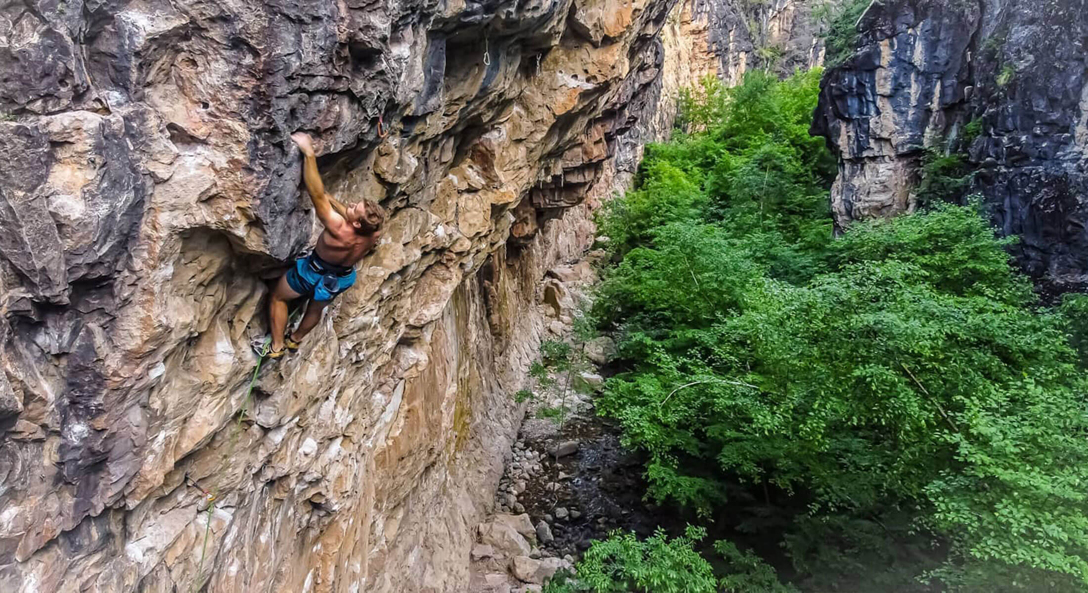 Rock climber in the Black Hills National Forest