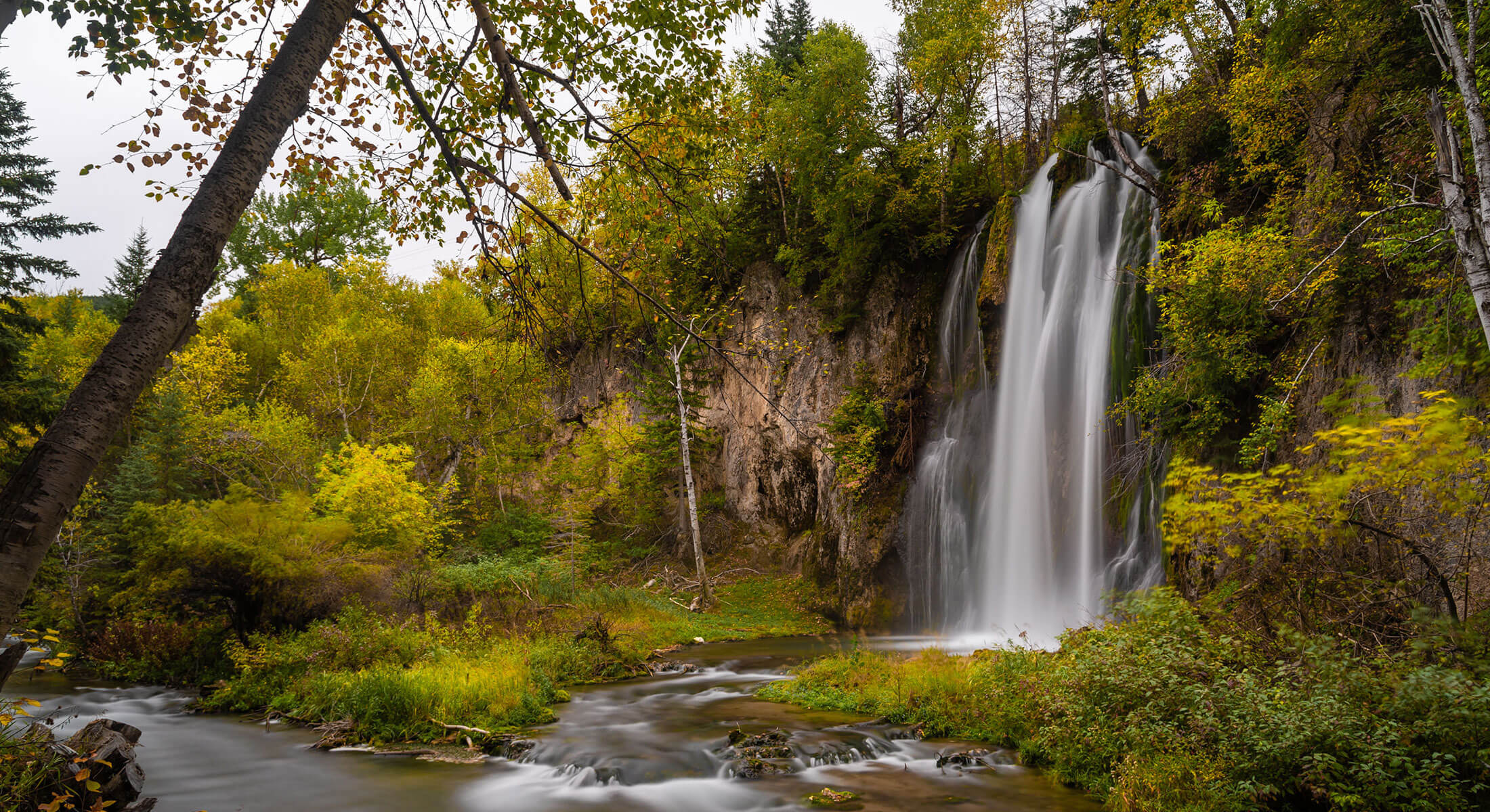 Spearfish Falls in Spearfish Canyon Black Hills National Forest