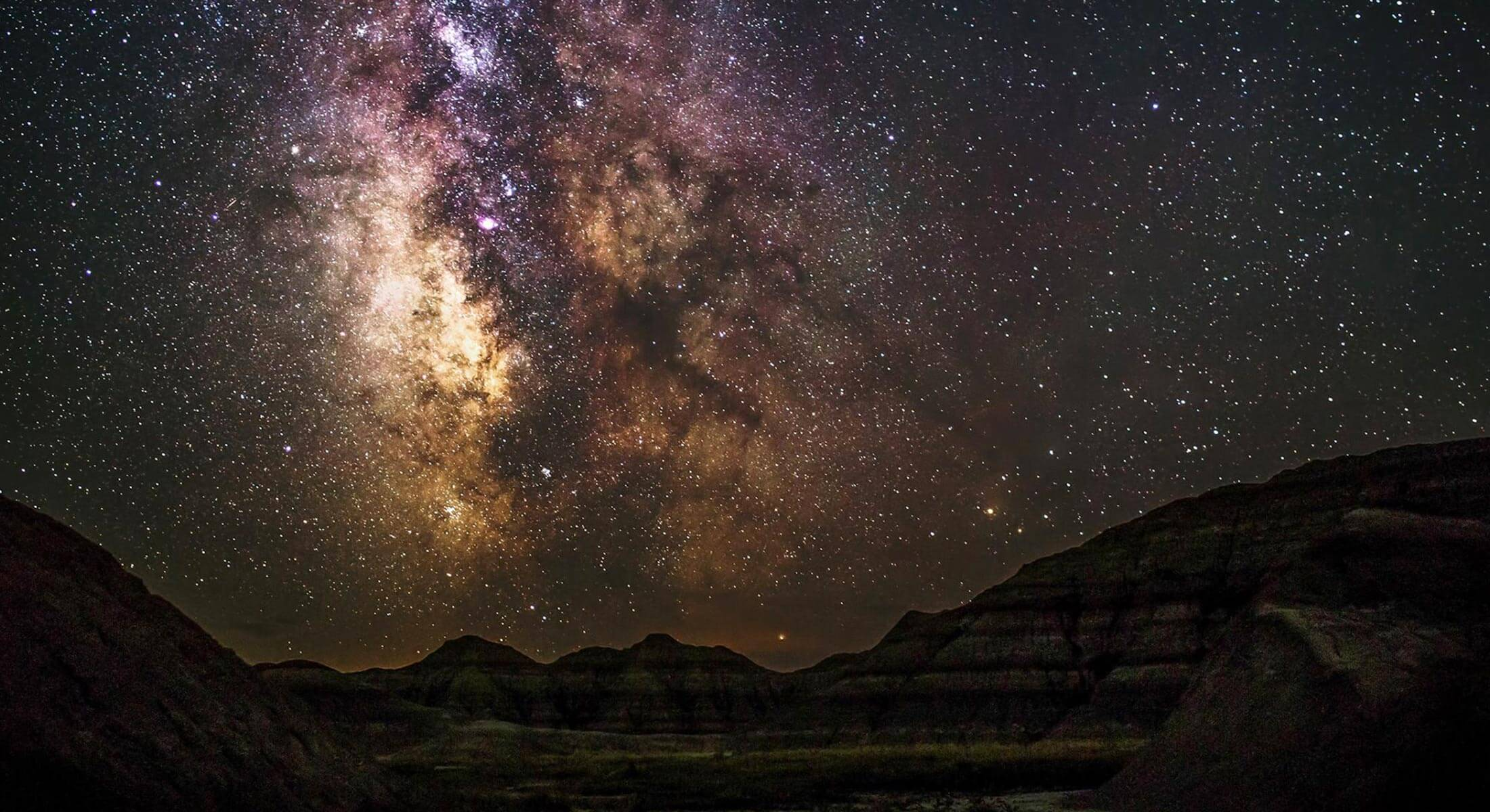 Night sky views in Badlands National Park