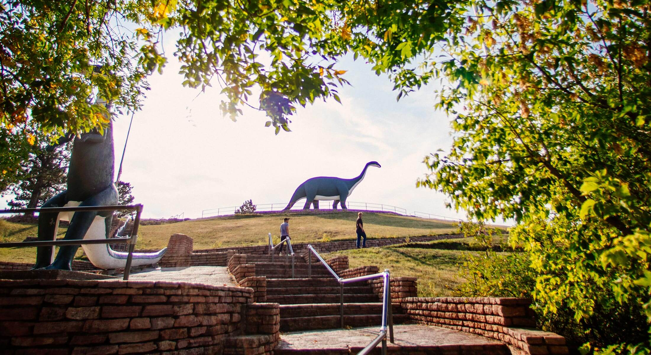 Entrance to Dinosaur Park in Rapid City