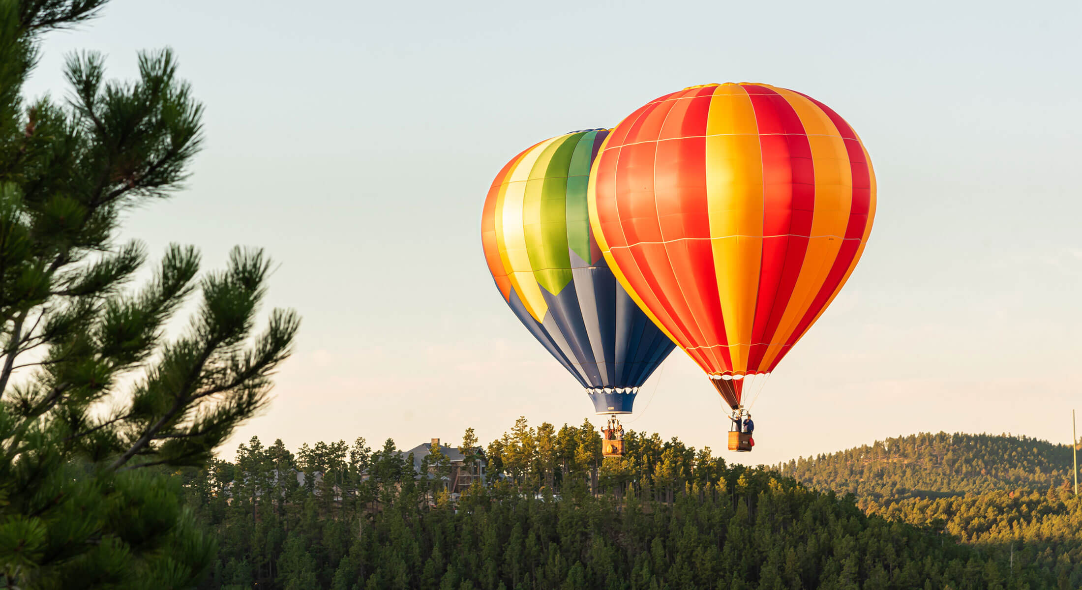 Hot Air Balloons in the Black Hills of South Dakota
