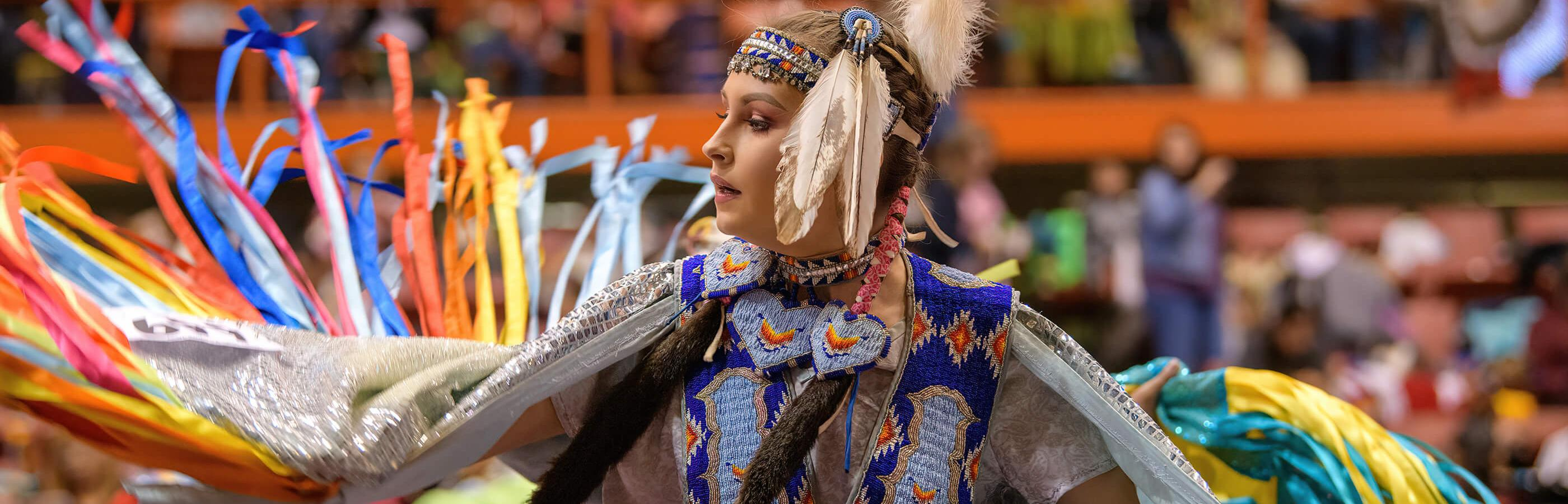 Native American Dancer At The Black Hills Powwow