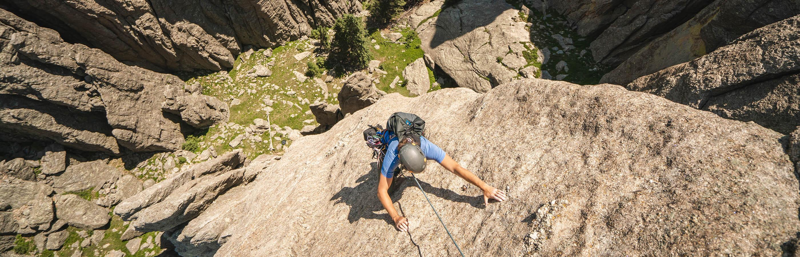 Man Mountain Climbing in Custer State Park