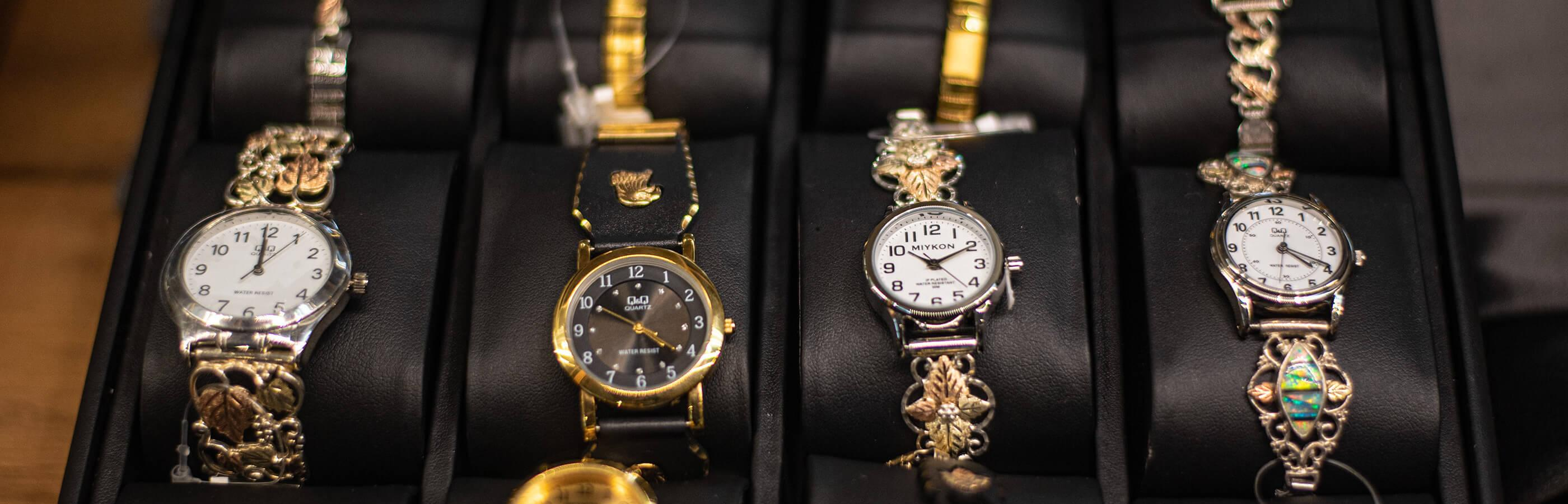 Black Hills Gold Watch Display At Gold Diggers