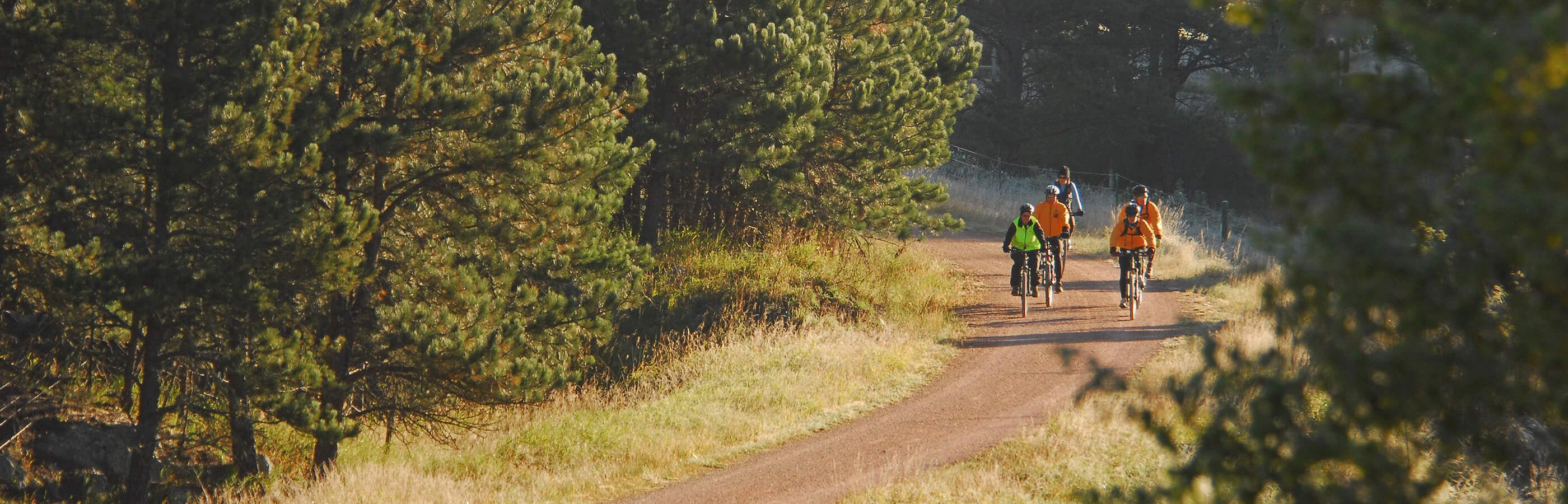 Biking on the Michelson Trail in South Dakota