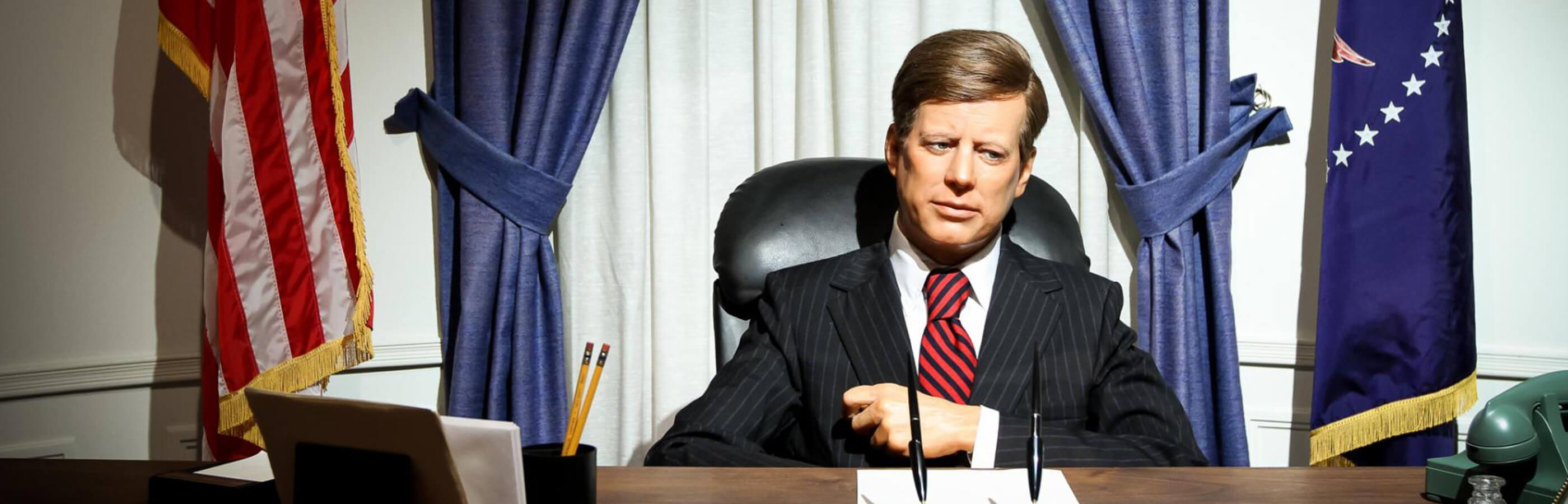 President Kennedy Made Of Wax