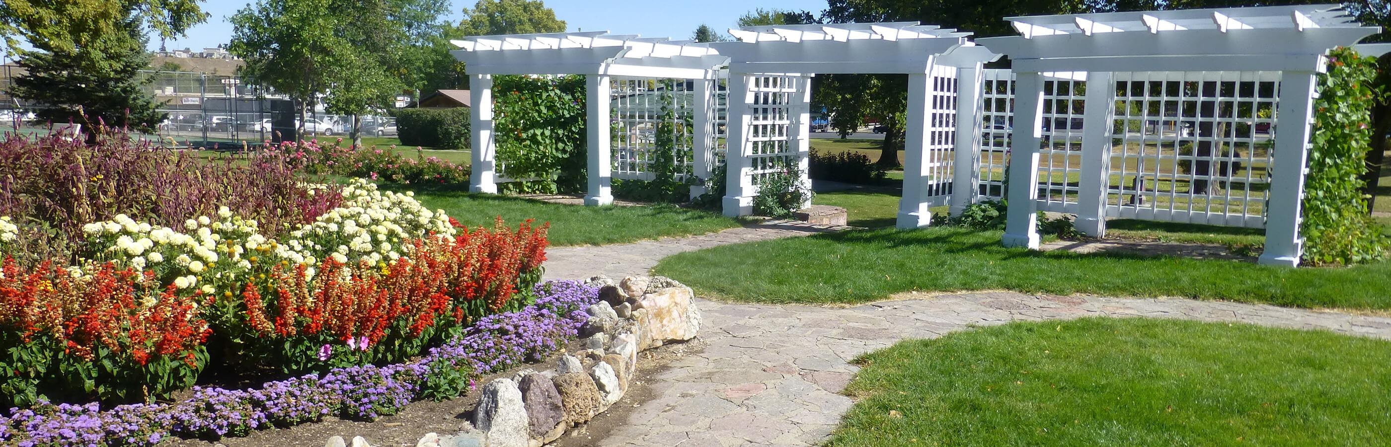 Flowers and Gazebos at Wilson Park