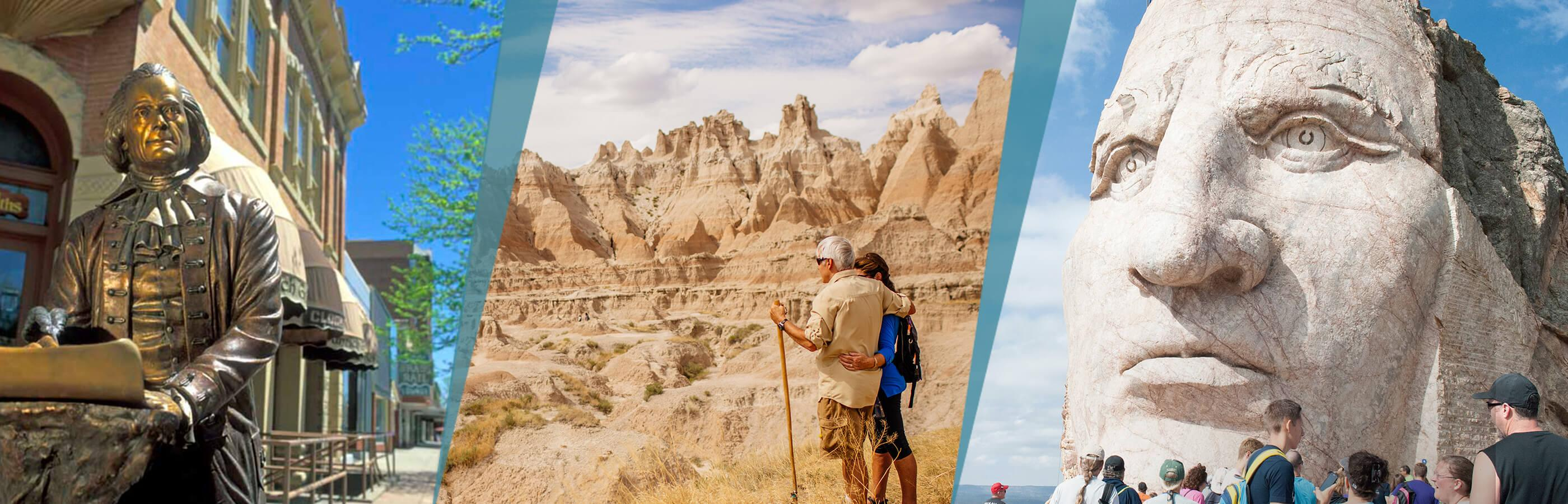 Tour beyond Mount Rushmore with City of presidents, Crazy Horse, and Badlands National Park