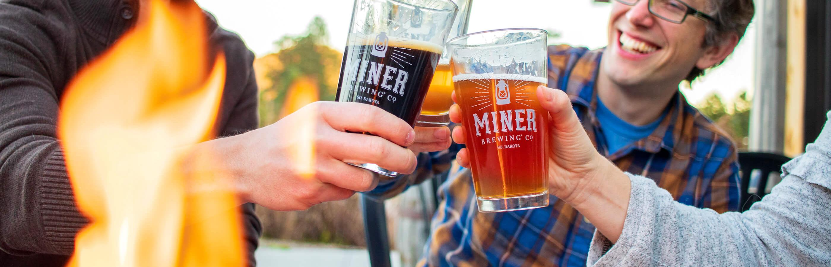 Cheers-ing At Miner Brewing Company