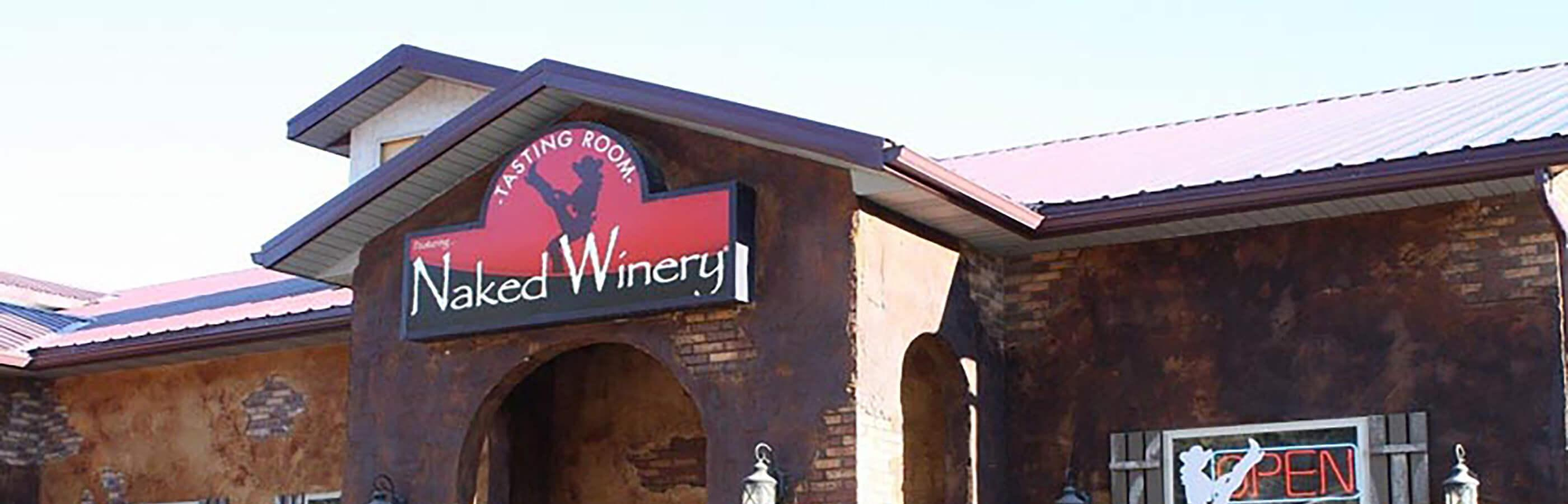 Exterior of Naked Winery In Hill City