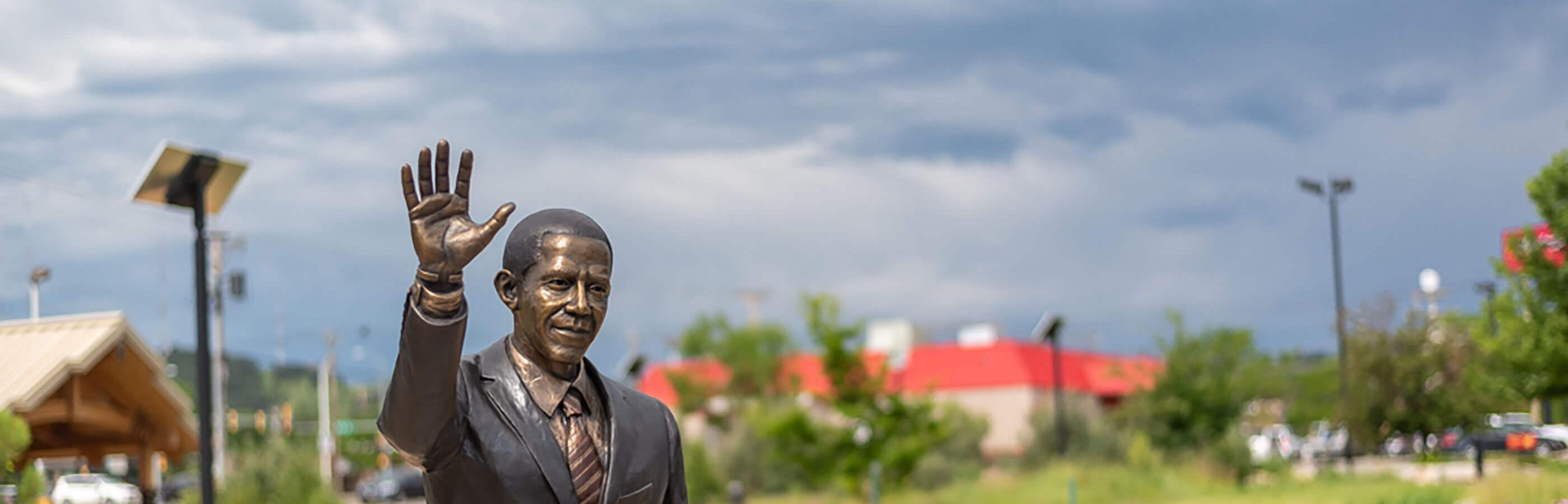 Barack Obama City of President Statue In Downtown Rapid City
