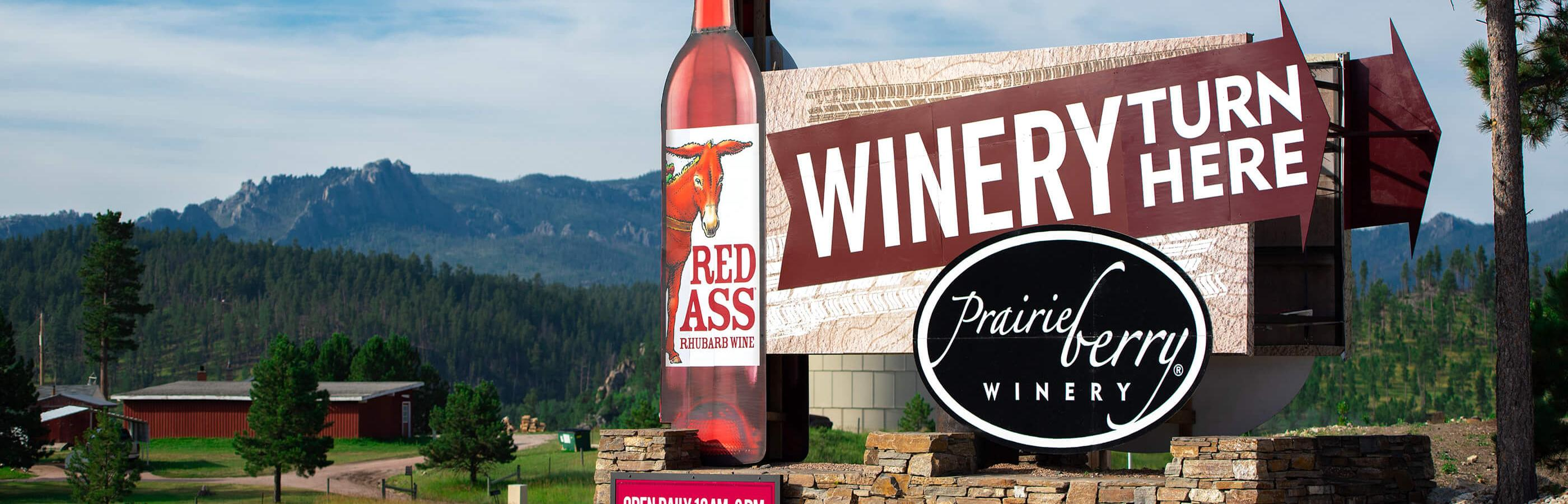 Signage for the Black Hills Prairie Berry Winery