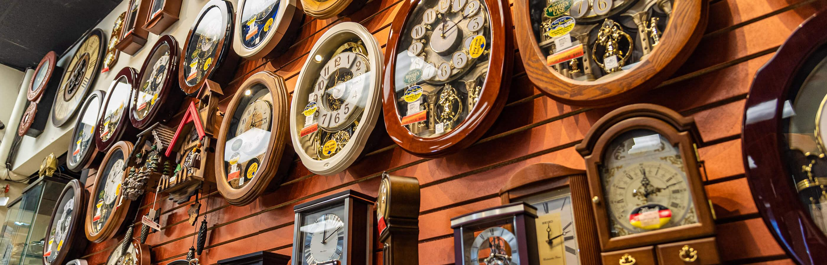 Clock Shop in Presidential Pawn Downtown Rapid City