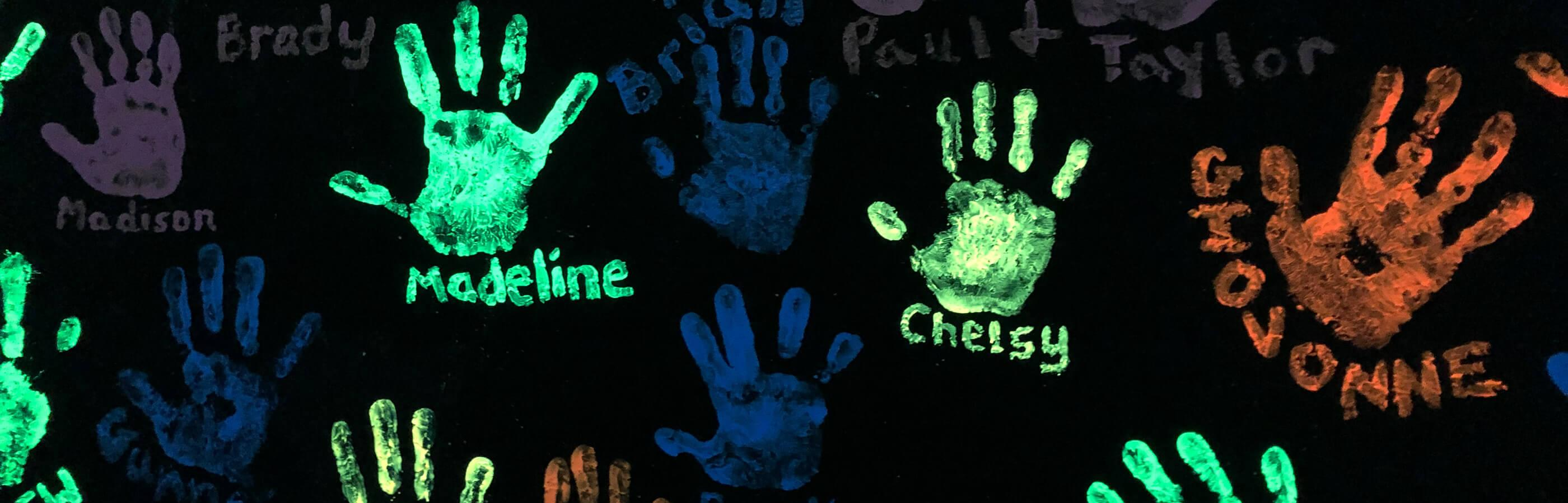 Hand Prints At Putz N Glo