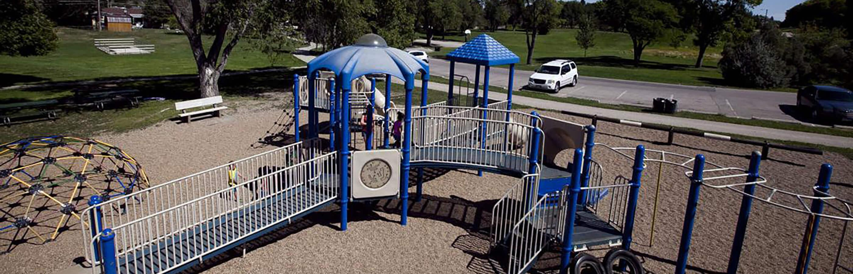 Playground Equipment At Robbinsdale Park