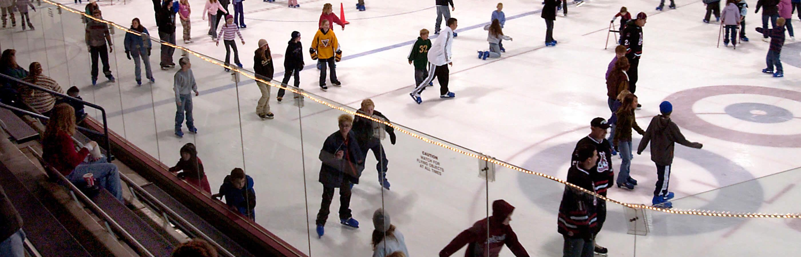 Free Skate At The Roosevelt Ice Rink