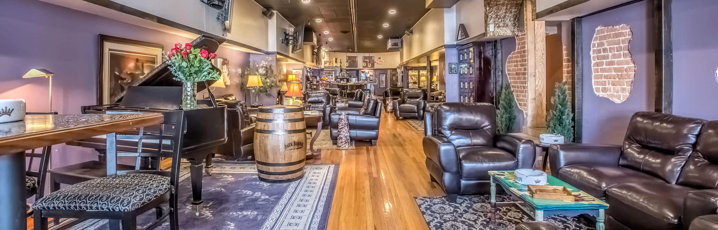 Interior of the downtown tinder box cigar lounge