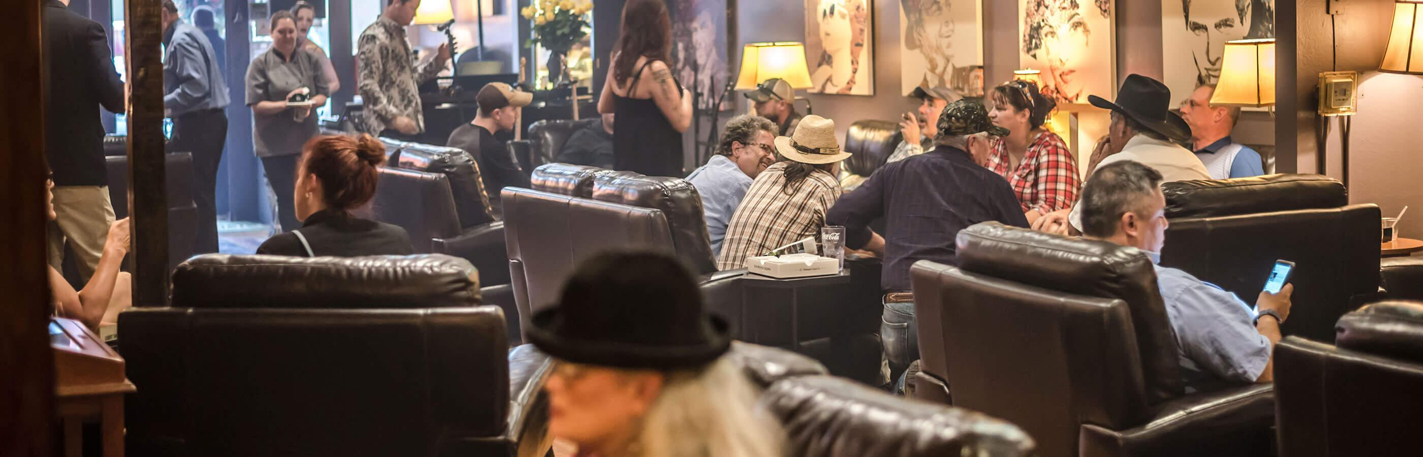 Inside the Tinder Box Cigar Lounge in Rapid City