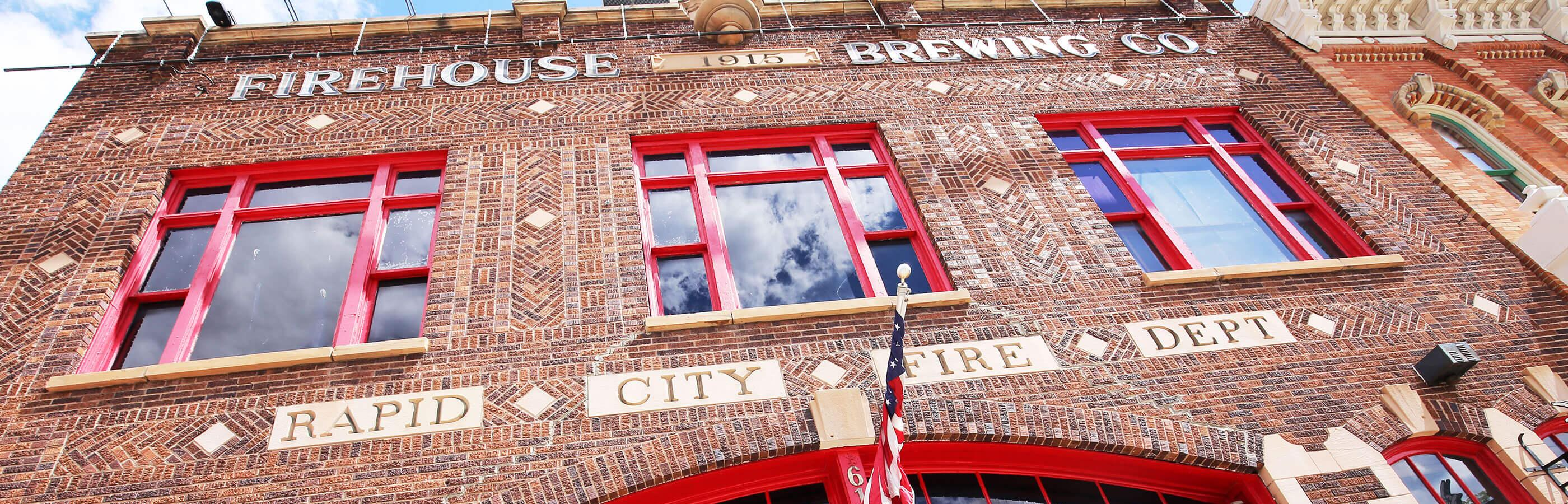 Exterior of the Firehouse Brewing Co. in Downtown Rapid City