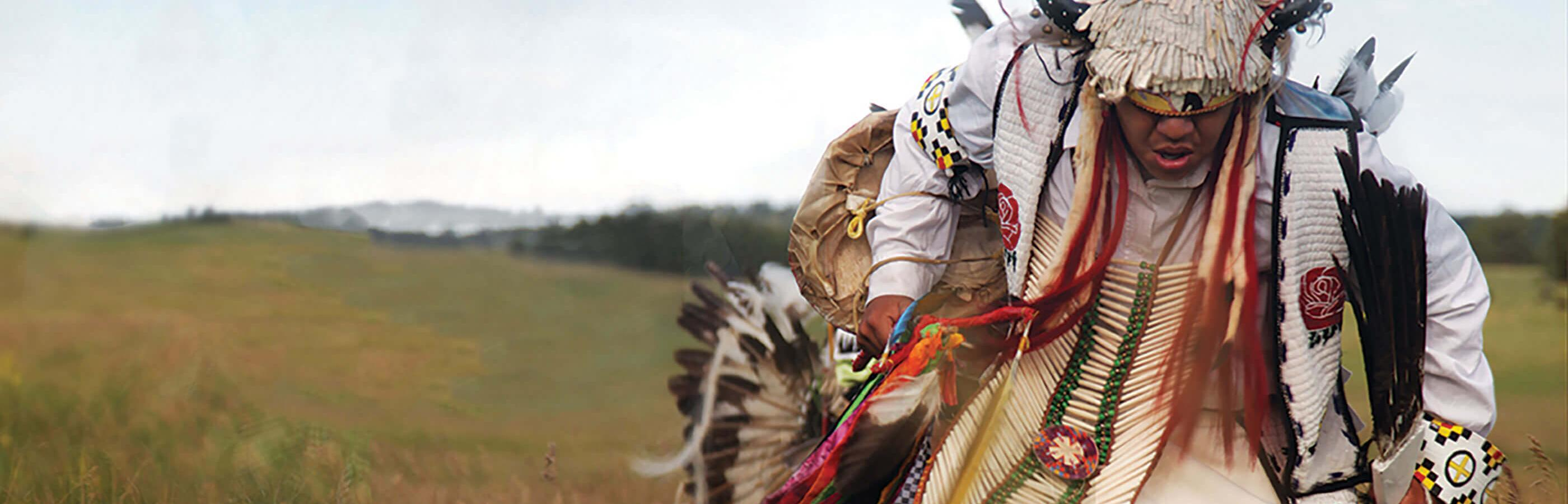 native american dancer in the black hills