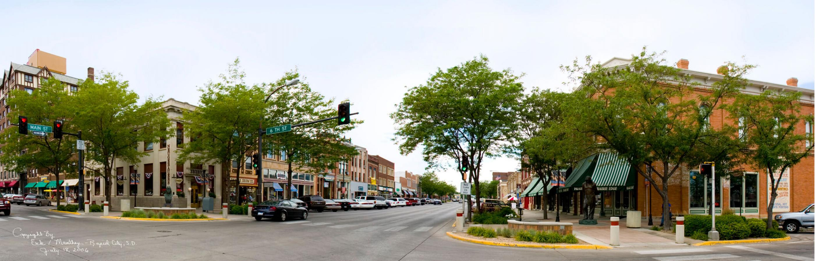 Pano of Downtown Rapid City, SD