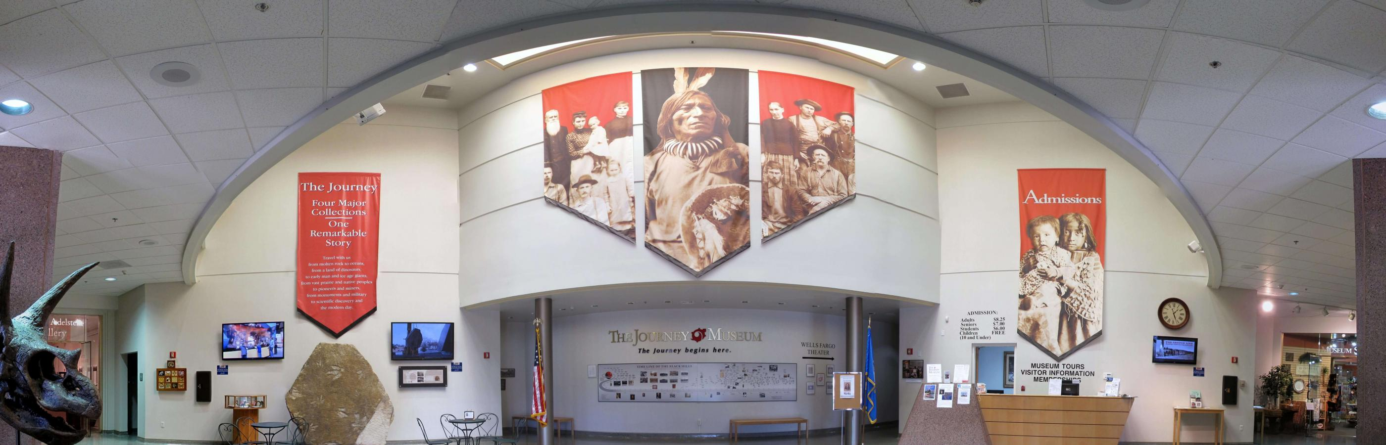 Pano of the lobby at the Journey Museum and Learning Center