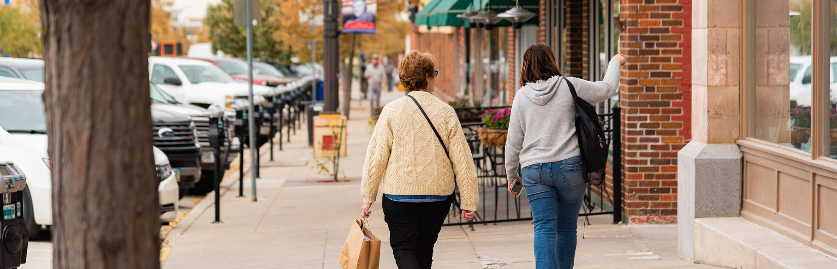 Two women shopping in Downtown Rapid City
