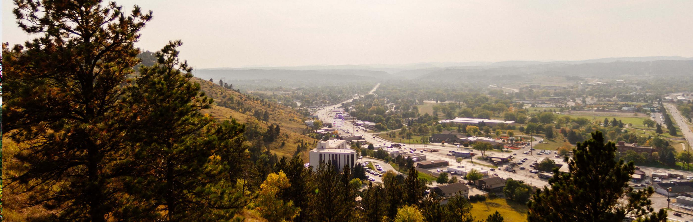 View of Rapid City from Skyline Drive and Wilderness Area