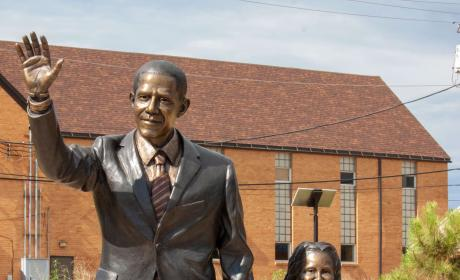 Barrack Obama Statue in the City of Presidents