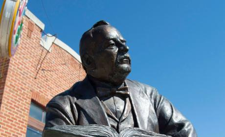 Grover Cleveland Statue in the City of Presidents
