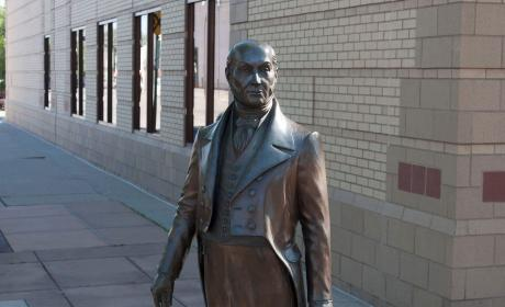 John Quincy Adams statue in the City of Presidents