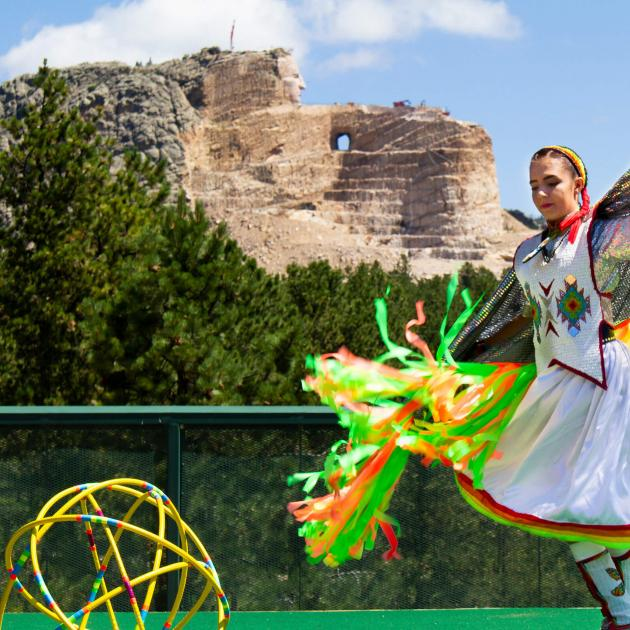 Native American Dancer Performing At Crazy Horse