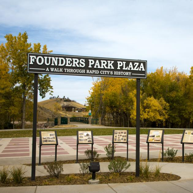 Founders Park Plaza Sign