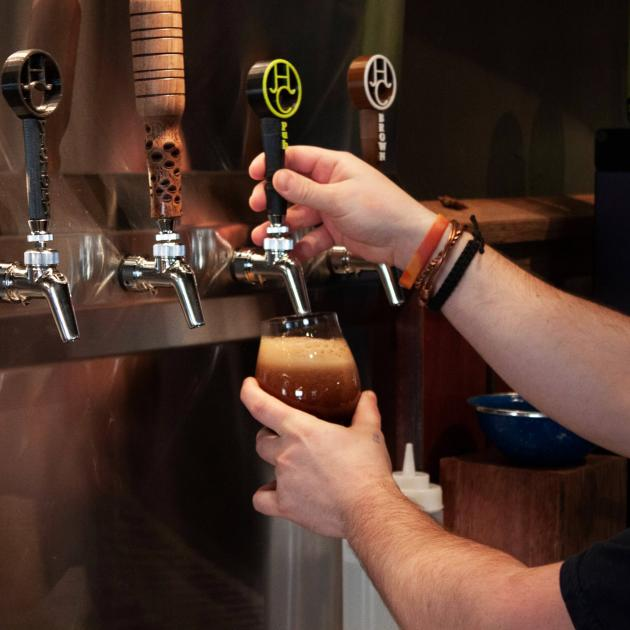 Beer Tap System At Hay Camp Brewing Company