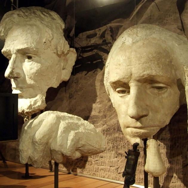 President Faces At Lincoln Borglum Museum