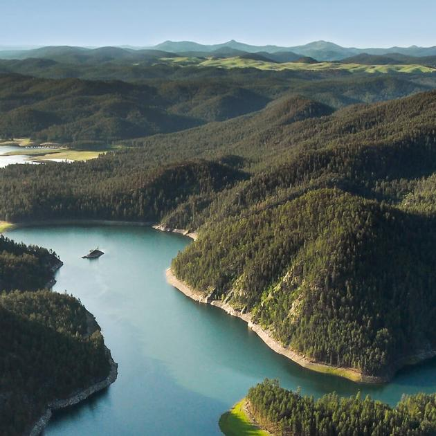 Aerial View Of Pactola Reservoir