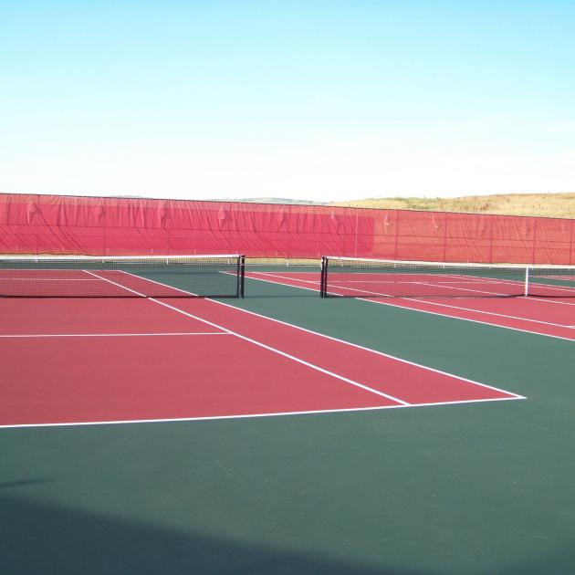 Tennis Courts at Parkview Sports complex in rapid city, sd