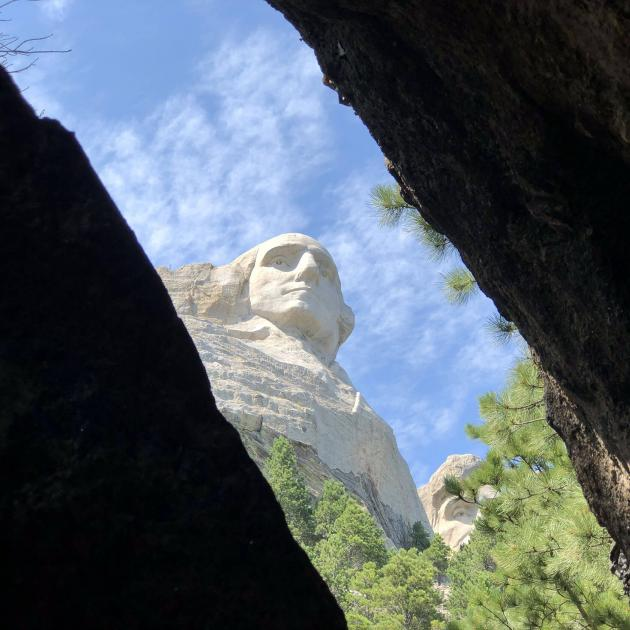 George Washington View At Mount Rushmore
