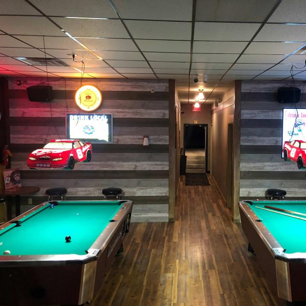 Pool tables inside the Oasis Bar Downtown Rapid City