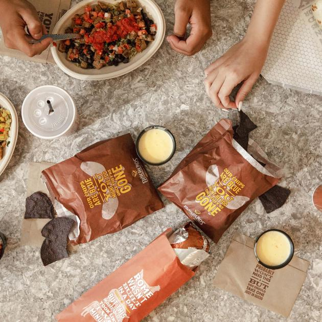 Menu items from Pancheros