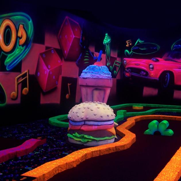 Black Light Mini Golf Course in Rapid City