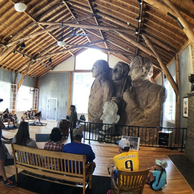 Ranger Talk Inside the Sculptors Studio At Mount Rushmore