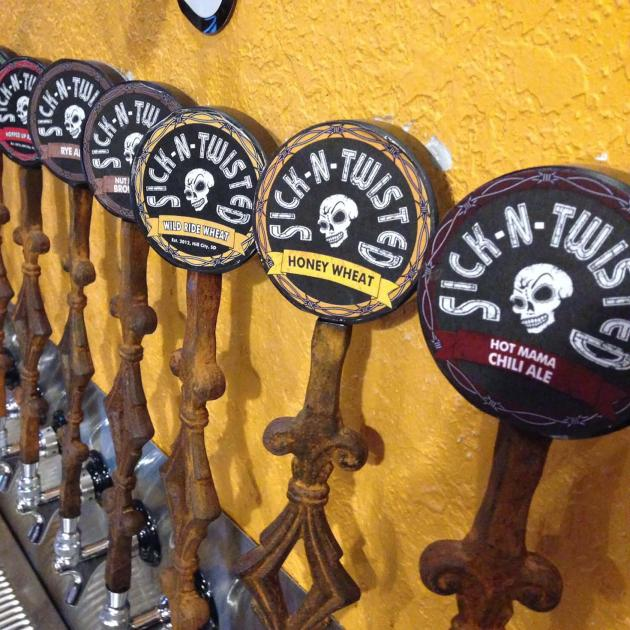 Sick N Twisted Brewery Tap Handles